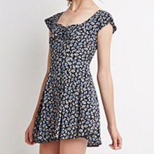 Forever 21 Ditsy Floral Smocked Dress